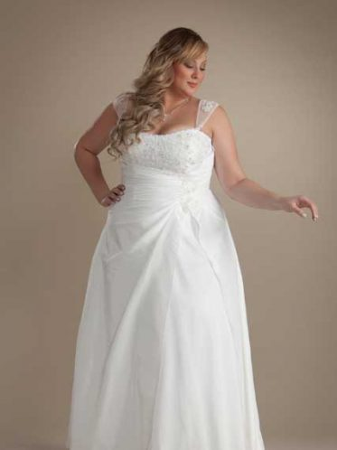 Affordable plus size wedding dress Casey