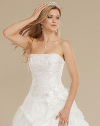 Close up ball gown bodice