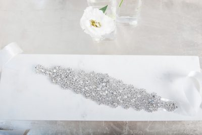 Beaded bridal belt Glamour