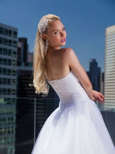 corset deb dress with tulle skirt