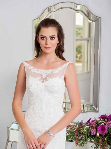 crystal beaded wedding gown the Bianca