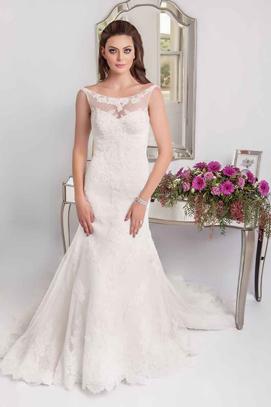 Crystal beaded wedding gown Bianca