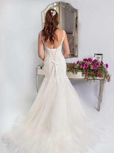 "lace fishtail wedding dress ""the Genevieve"""