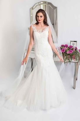 leah s designs Lace fishtail wedding dress