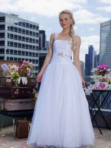 Lace tulle skirt deb dress