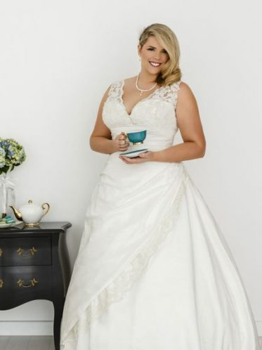 Layla plus size wedding dresses with sleeves