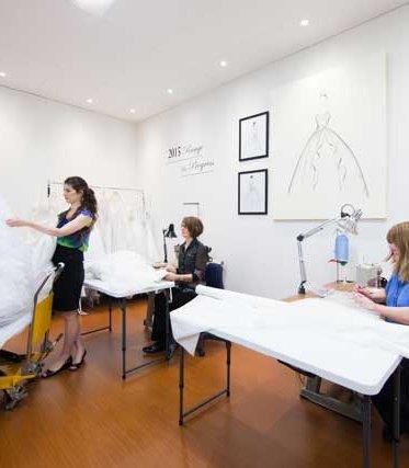 Leah S Designs making a ball gown