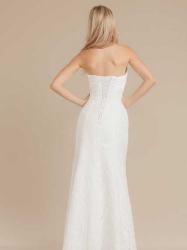Mermaid lace deb dress the Emily back