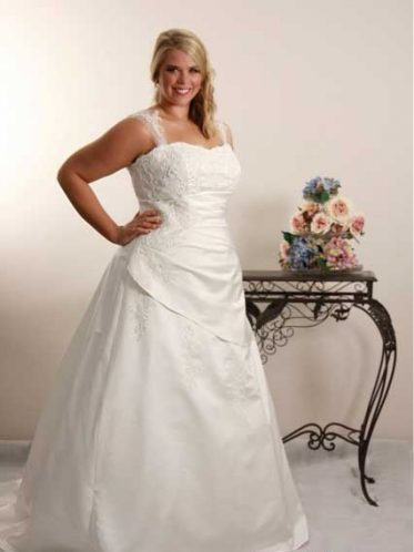 Modest plus size wedding dresses Jennifer