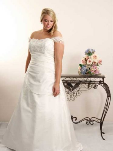 Modest plus size wedding dresses Jennifer with straps