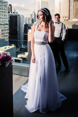 Annie one shouldered wedding dress