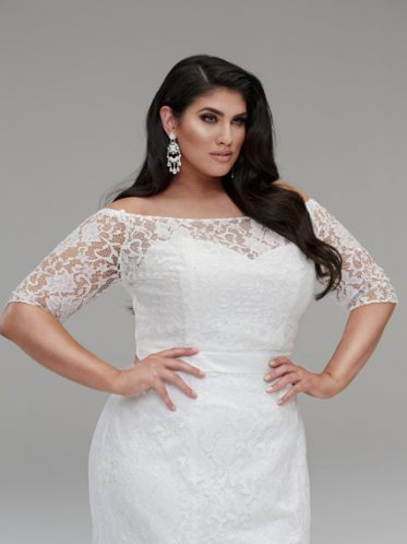 Topper lace bridal jacket