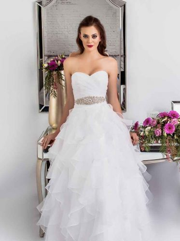 leah s designs Princess organza deb dress Vera