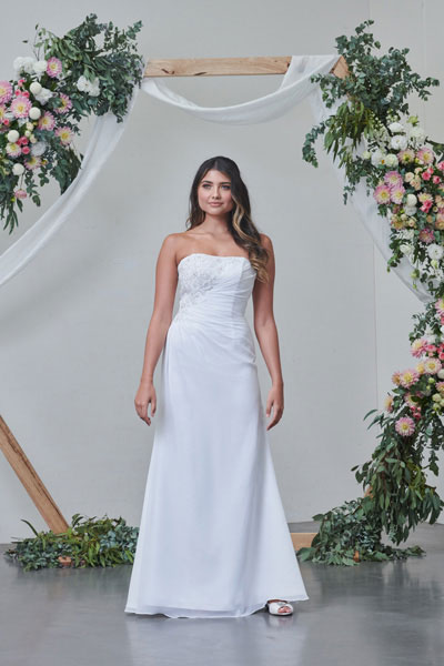 Montana simple debutante dress