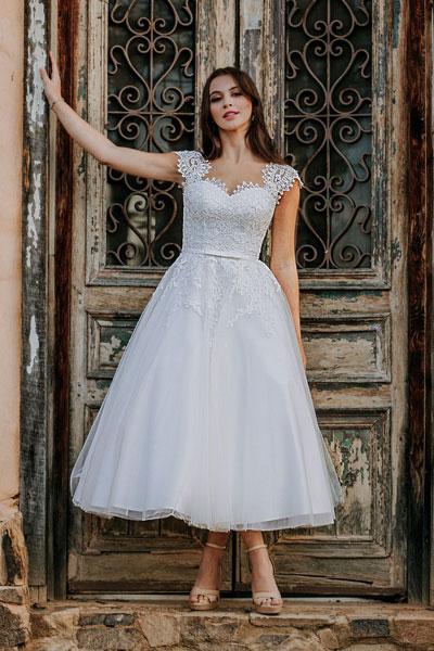 Short dresses for bride Anna