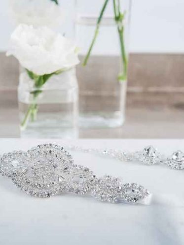 Art deco bridal belt and jewellery