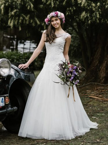 illusion neckline wedding dress