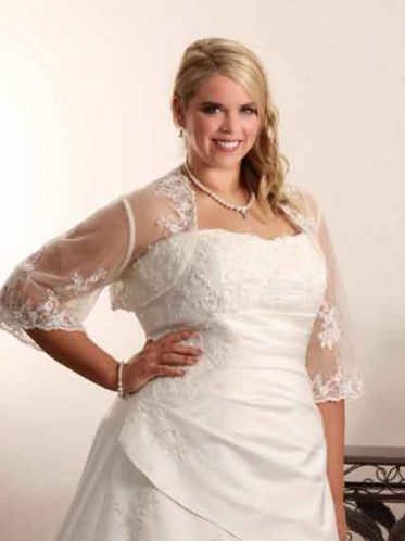 Modest plus size wedding dress