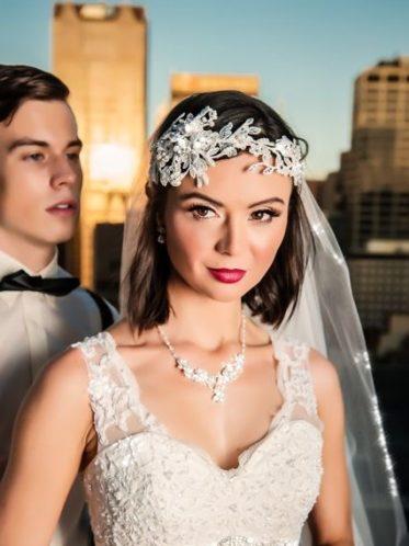 Romantic vintage lace wedding gowns Jasmine