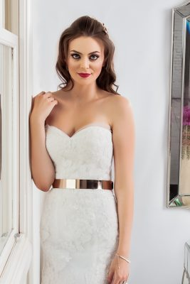 strapless wedding dresses Tenielle close up