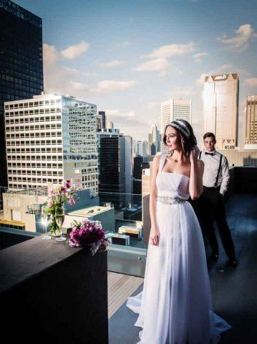 unique wedding dress one shouldered