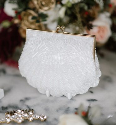 vintage beaded bridal bag
