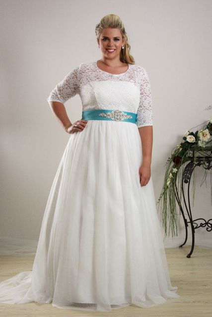 Simple plus size wedding dress Annie - Plus size Bridal ...