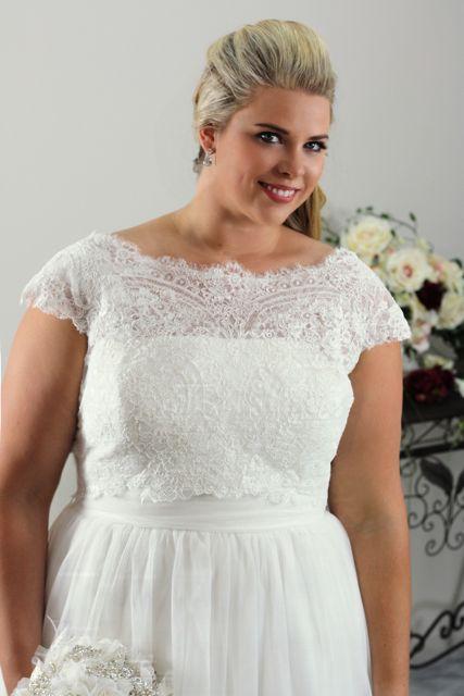 Simple Plus Size Wedding Dress Annie Plus Size Bridal Leah S Designs