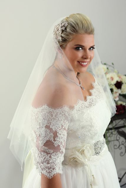 Simple plus size wedding dress annie plus size bridal for Wedding dress jackets plus size