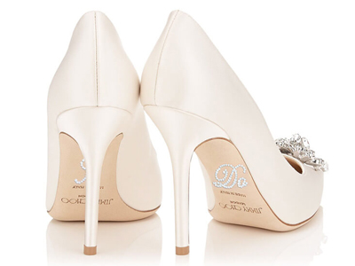 Shoe stickers for brides