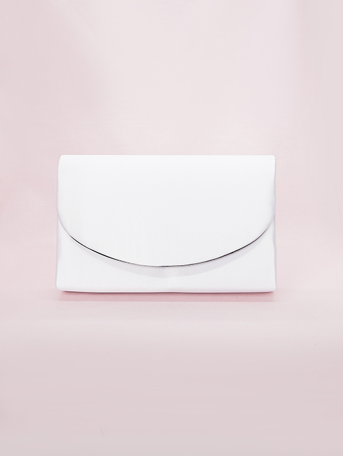 white satin bag for event