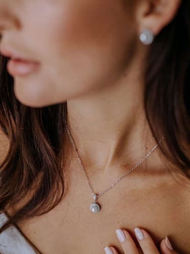 Bridal necklace and earringsDestiny