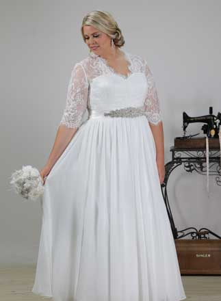 Lace sleeve Wedding dress Elegance with bridal belt