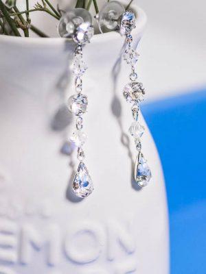 Glamour crystal wedding earrings