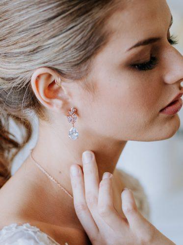 Poppy wedding dress earrings