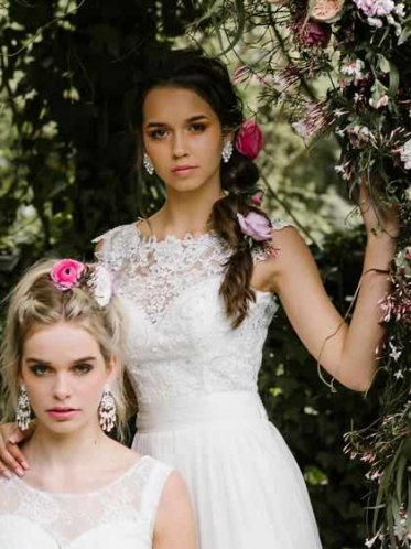Lace bodice of the Miranda deb dresses Melbourne