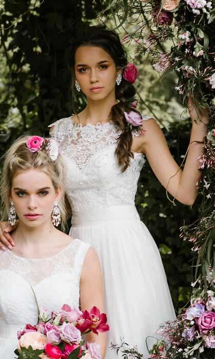 Lace bodice of the Miranda deb dresses Melbourne