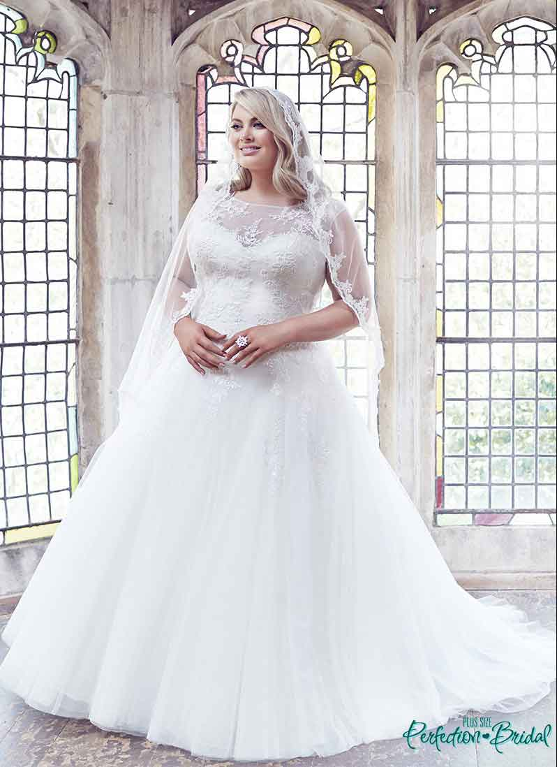 6b99fb15139 leah s designs Anastasia princess plus size wedding dresses and lce edge  veil