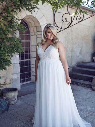 Plus size gown Andrea