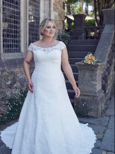 Leah S Designs Bridget larger-size wedding dresses