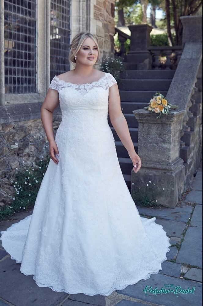 leah s designs Bridget larger size wedding dresses