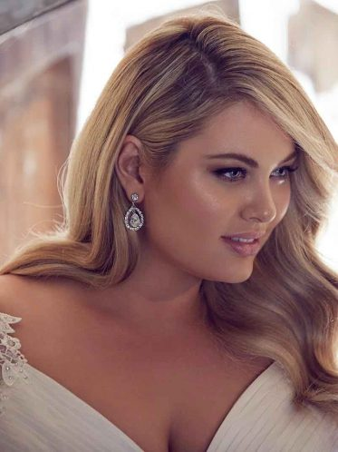 Odessa Plus Size Wedding Gowns Close Up