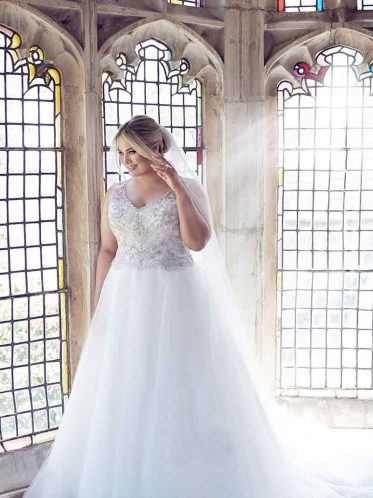 Princess Plus Size Wedding Dress - Gwyneth