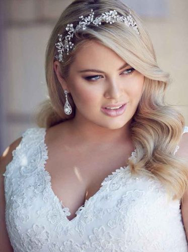 Simple plus size wedding dress Andrea size 16 to 34