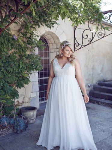 simple Plus size wedding dresses chiffon