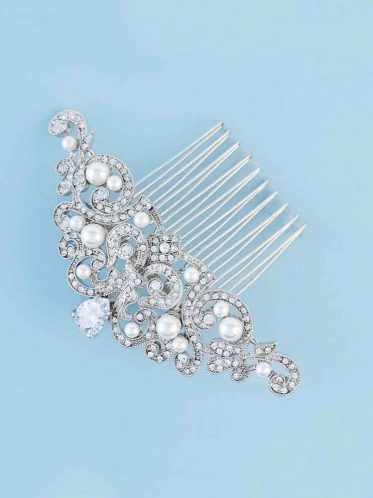 Wedding jewellery classic hair comb