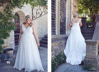 wedded wonderland featuring Plus size perfection bridal