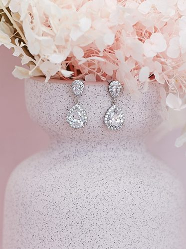 drop bridal earrings Sophia