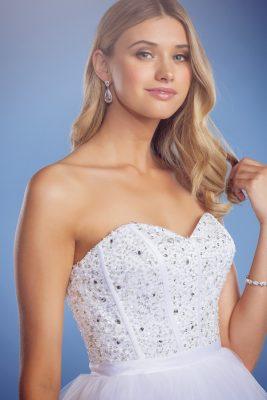 Arabella ball gown wedding dress close up