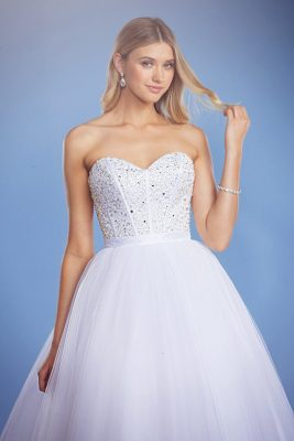 Arabella princess ball gown wedding dress front